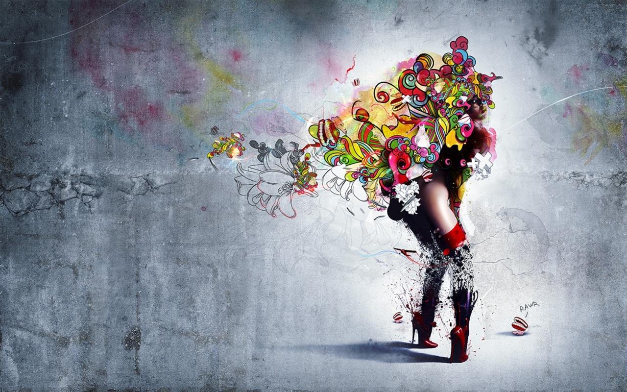 Ballet Dancer Wallpaper Free Wide Hd Wallpaper: 1280x800 Dance Is Color Wallpaper, Music And Dance Wallpapers