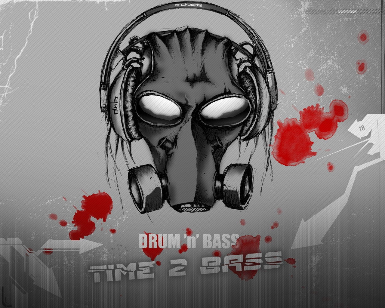 1280x1024 Dnb Music Mask Wallpaper Music And Dance Wallpapers