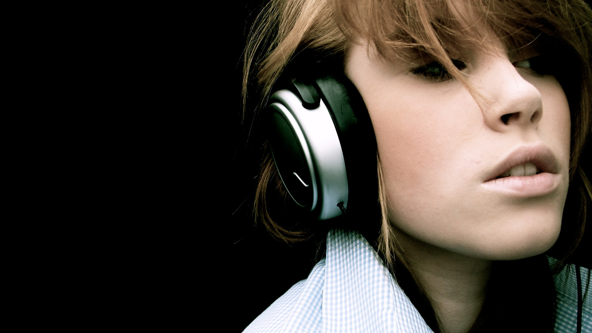 music girl wallpapers headphones - photo #15