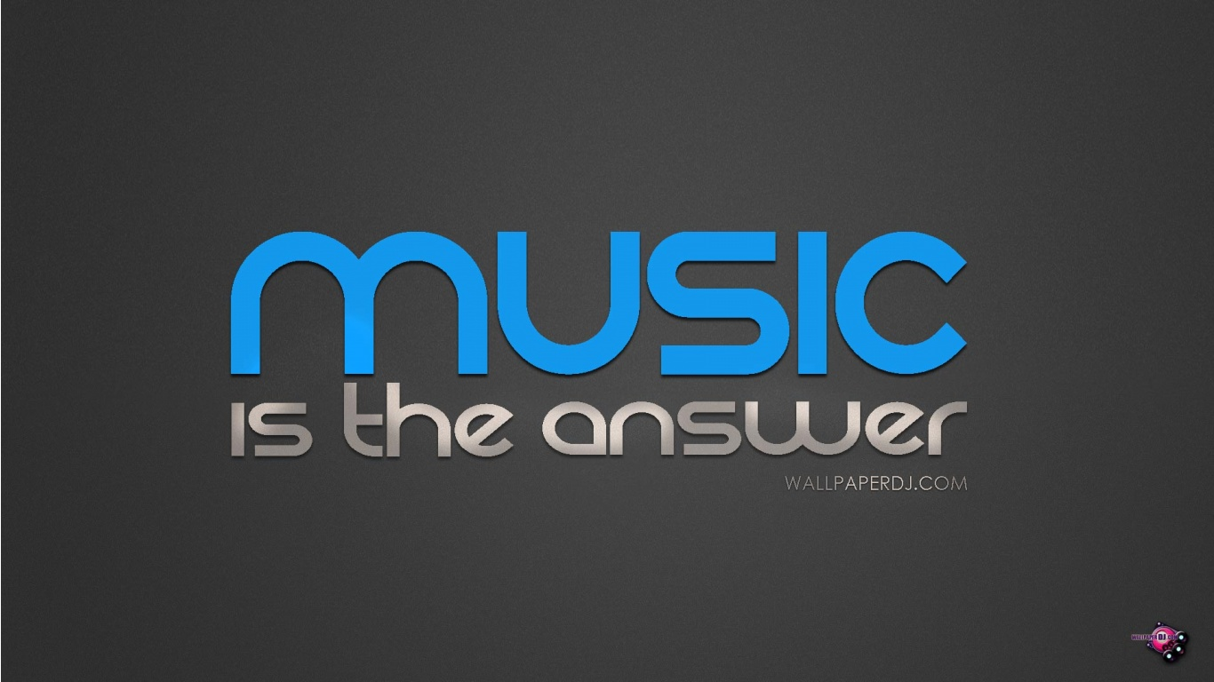 1366x768 Music Is The Answer wallpaper, music and dance wallpapers: wallpaperdj.com/view-music_is_the_answer-1366x768.html
