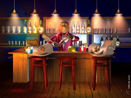 3D Funny Bartender (click to view)