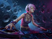 Girl dj artwork
