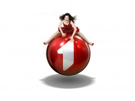 Girl on a red ball commercial (click to view)