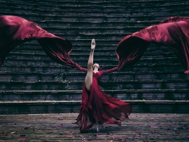 The scarlet ballerina (click to view)