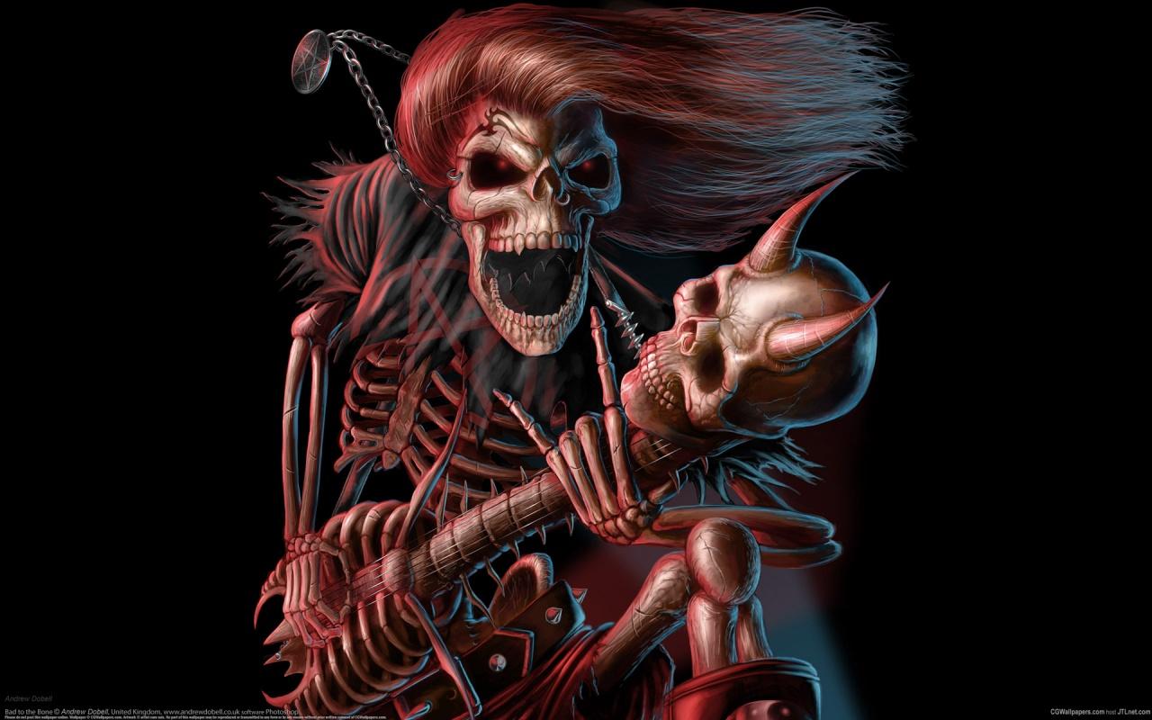 День имени, крутые картинки скелетов