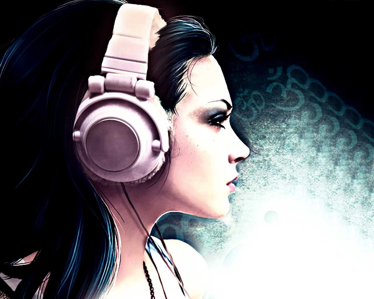 music girl wallpapers headphones - photo #44