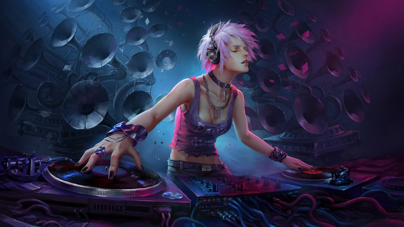 Girl dj artwork HD and Wide Wallpapers